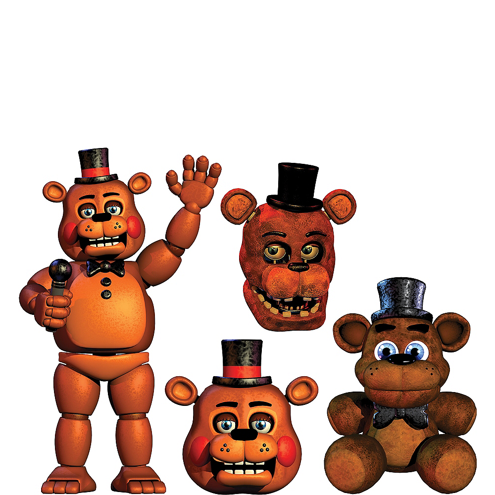 Nav Item for Freddy Fazbear Cutouts 4ct - Five Nights at Freddy's Image #1