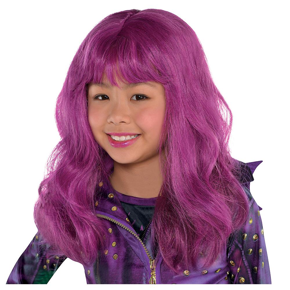 child purple mal wig descendants party city. Black Bedroom Furniture Sets. Home Design Ideas