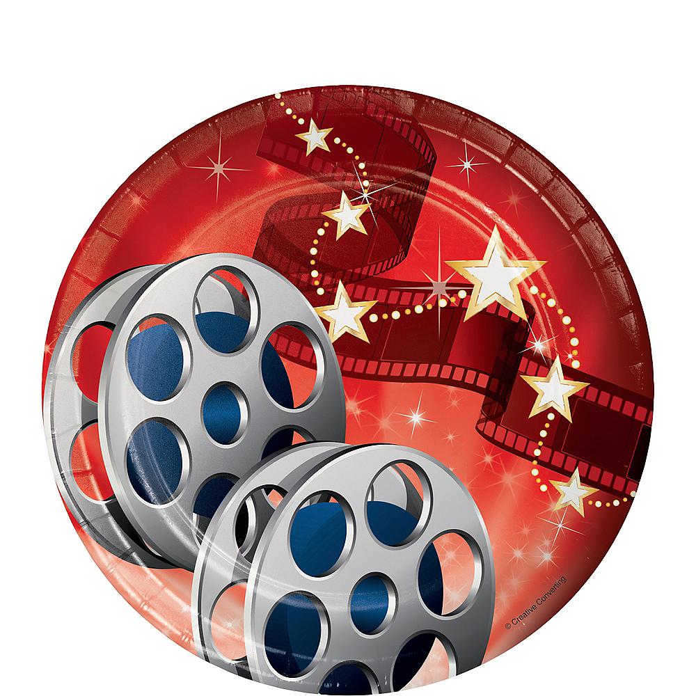 Hollywood Movie Night Dessert Plates 8ct Image #1