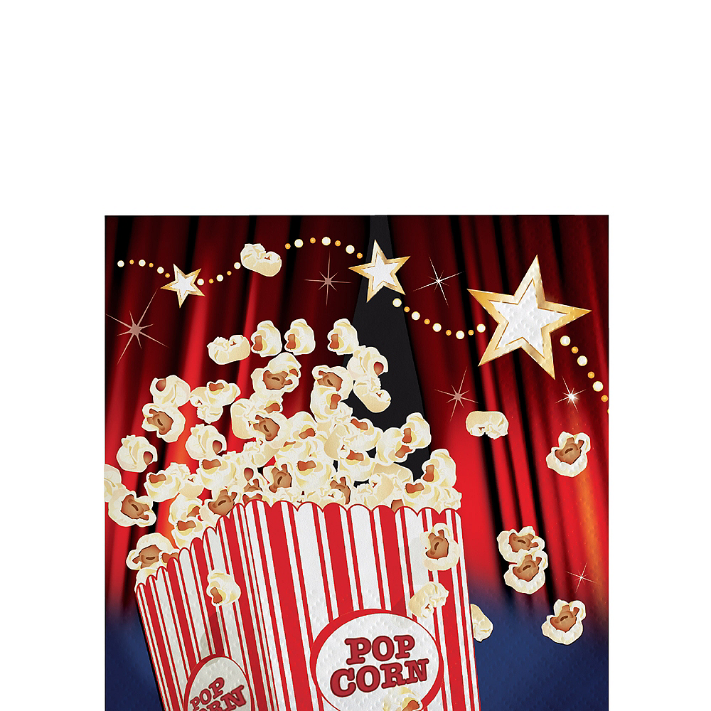 Nav Item for Hollywood Movie Night Beverage Napkins 16ct Image #1