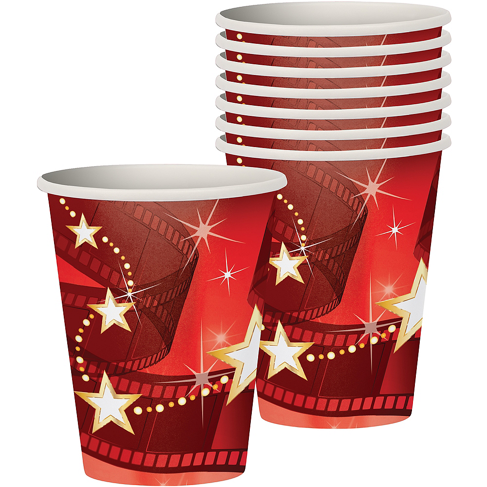 Hollywood Movie Night Cups 8ct Image #1