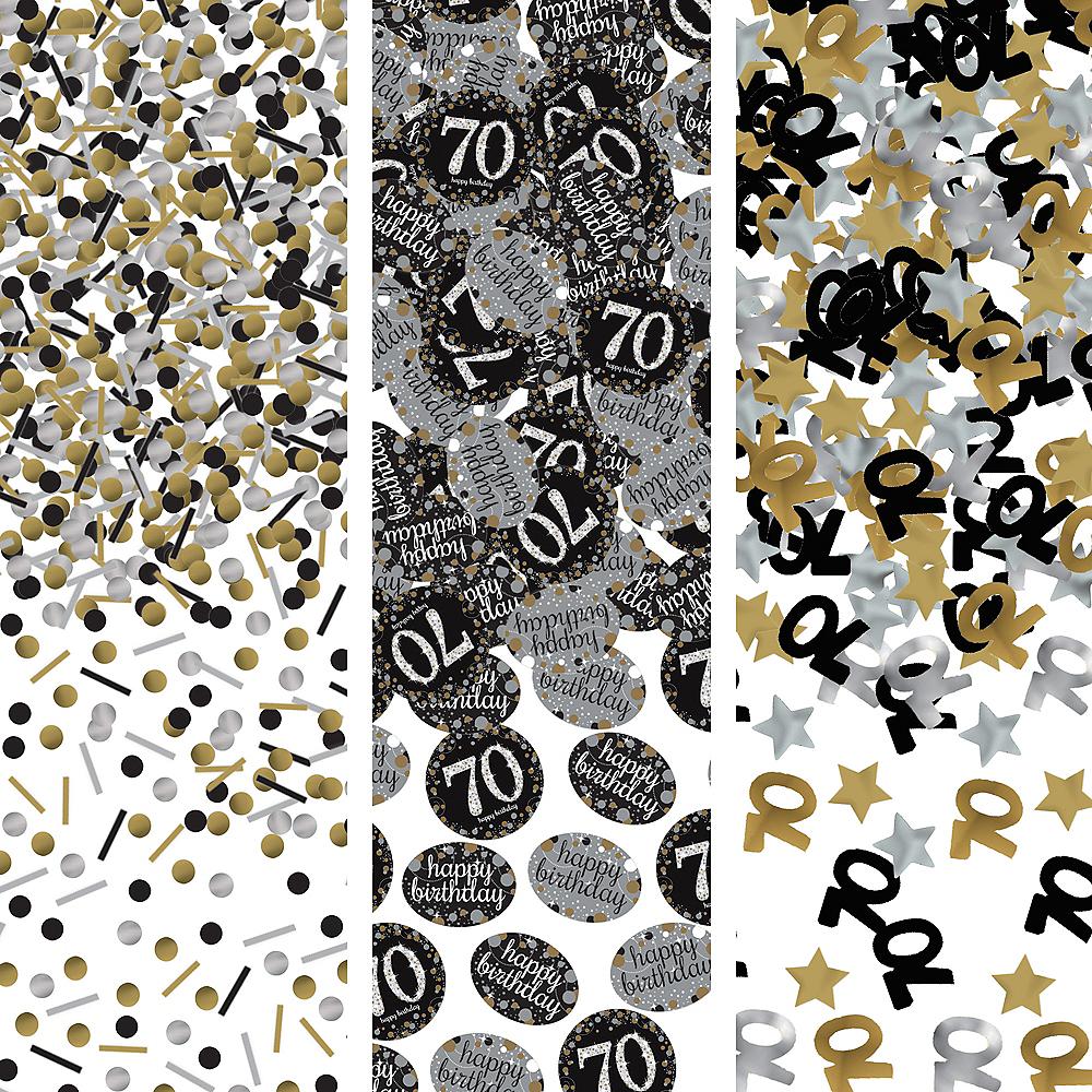 70th Birthday Confetti - Sparkling Celebration Image #1