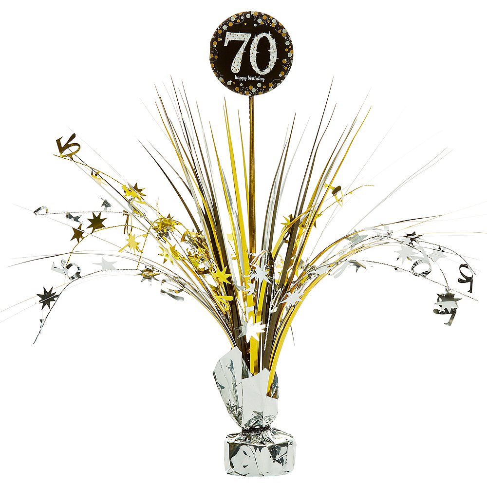 70th birthday spray centerpiece 2 34in x 18in sparkling 70th birthday spray centerpiece sparkling celebration image 1 izmirmasajfo