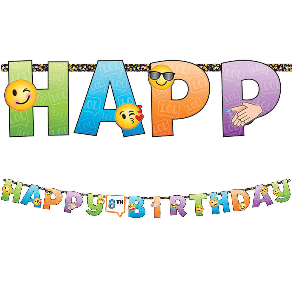 Smiley Birthday Banner Kit Image #1