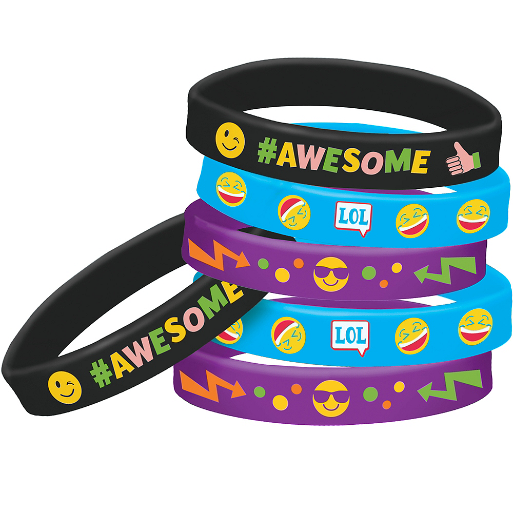 Smiley Wristbands 6ct Image #1