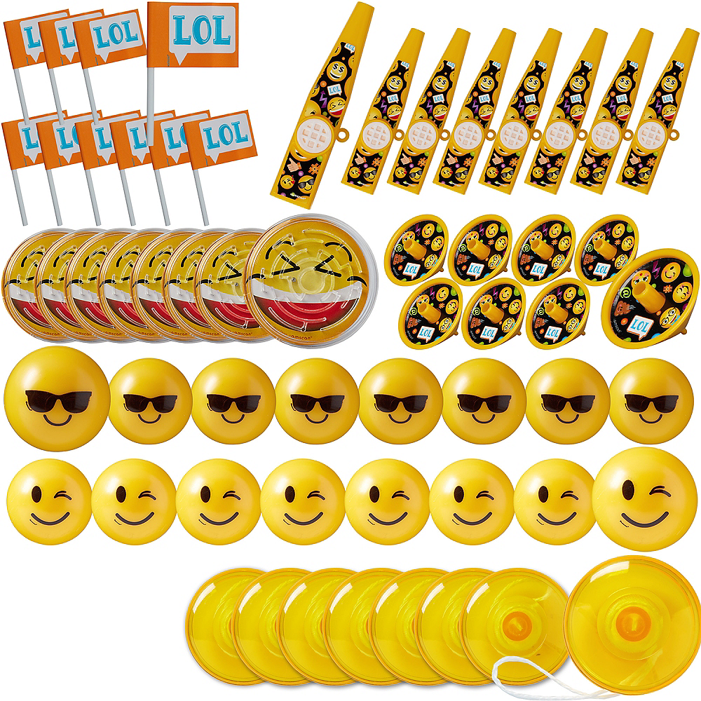 Smiley Favor Pack 48pc Image #1