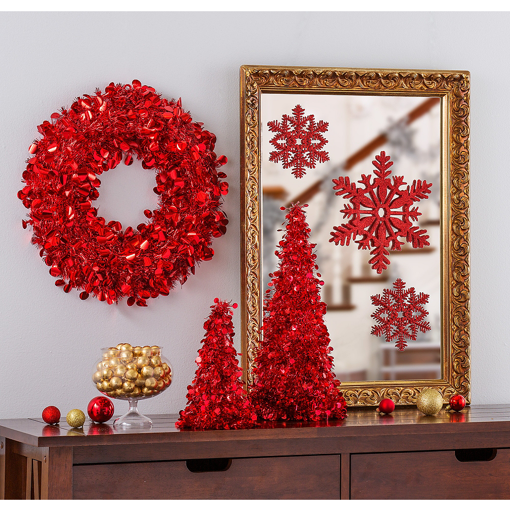 Red Christmas Table & Mirror Decorating Kit Image #1