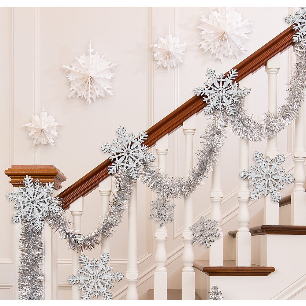 Silver Christmas Stairway Decorating Kit Image #1