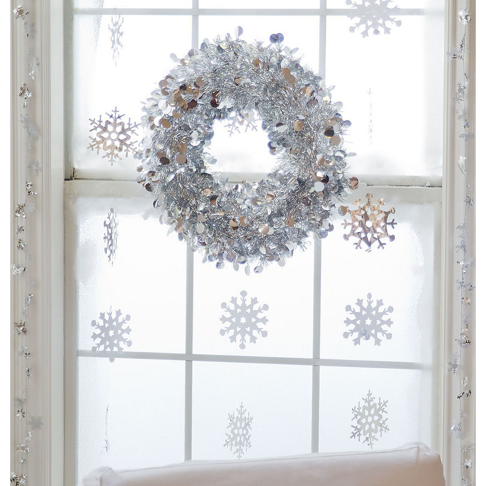 Silver Christmas Window Decorating Kit Image #1