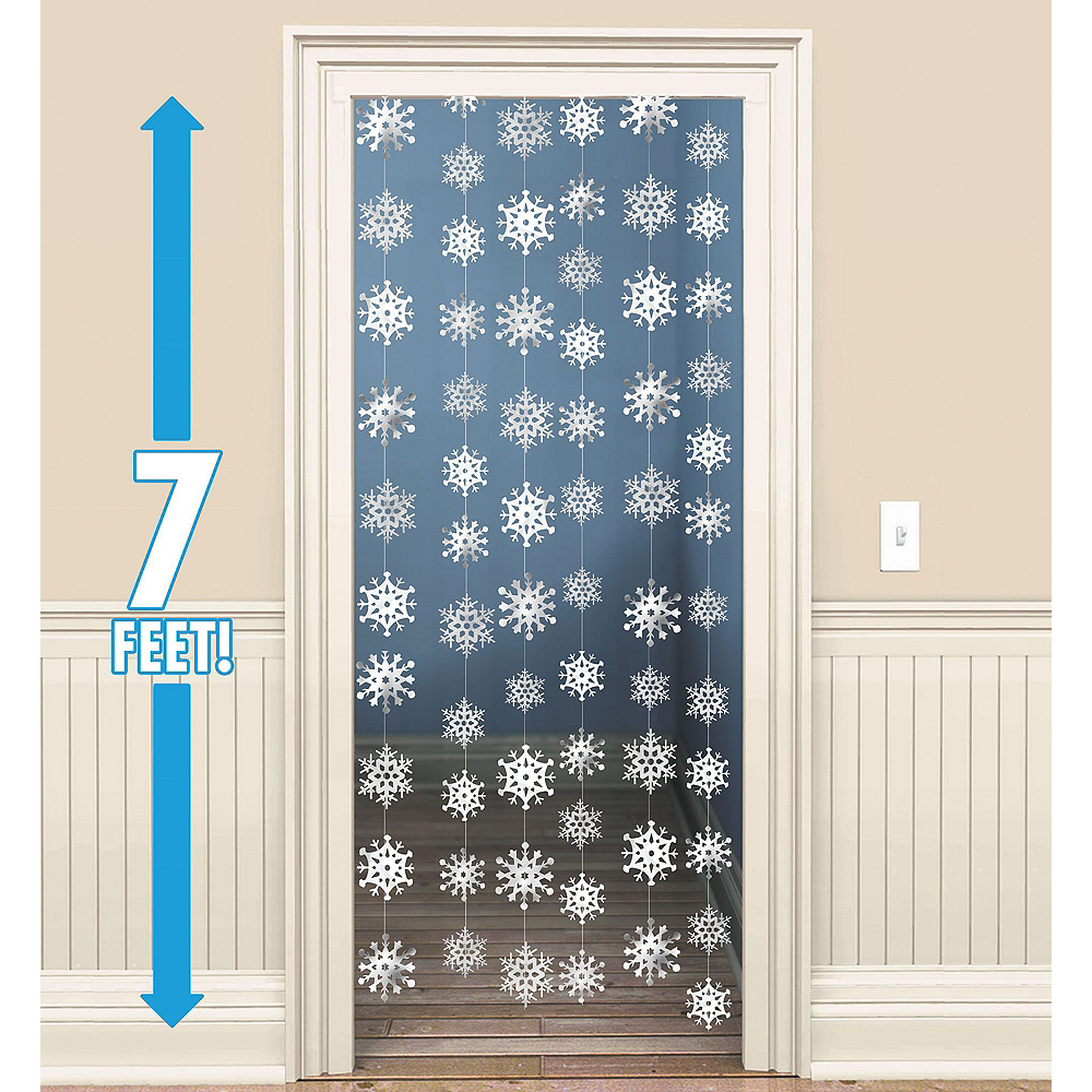 Silver Christmas Window Decorating Kit Image #2