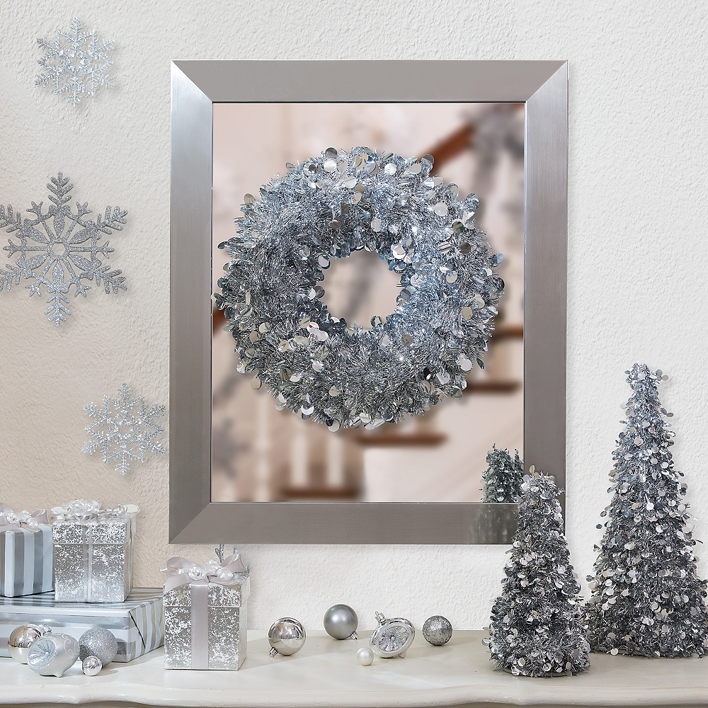 Silver Christmas Table & Mirror Decorating Kit Image #1