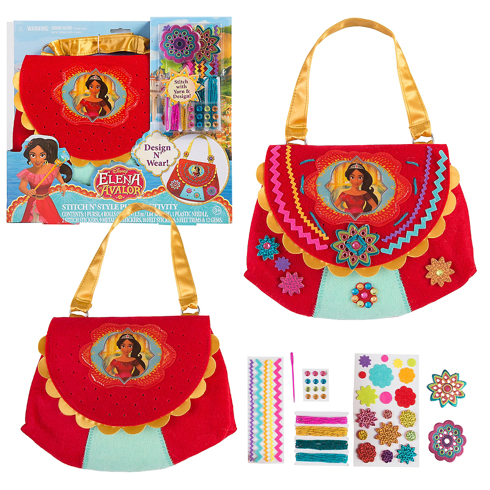 Nav Item for Elena of Avalor Stitch N' Style Purse Activity Kit 44pc Image #1