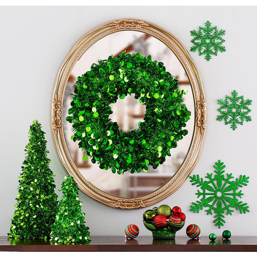 Green Christmas Table & Mirror Decorating Kit Image #1