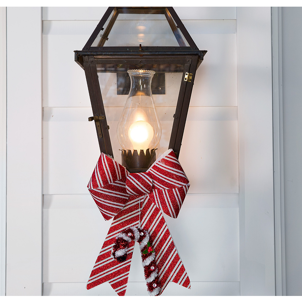 Candy Cane Porch Light Decorating Kit