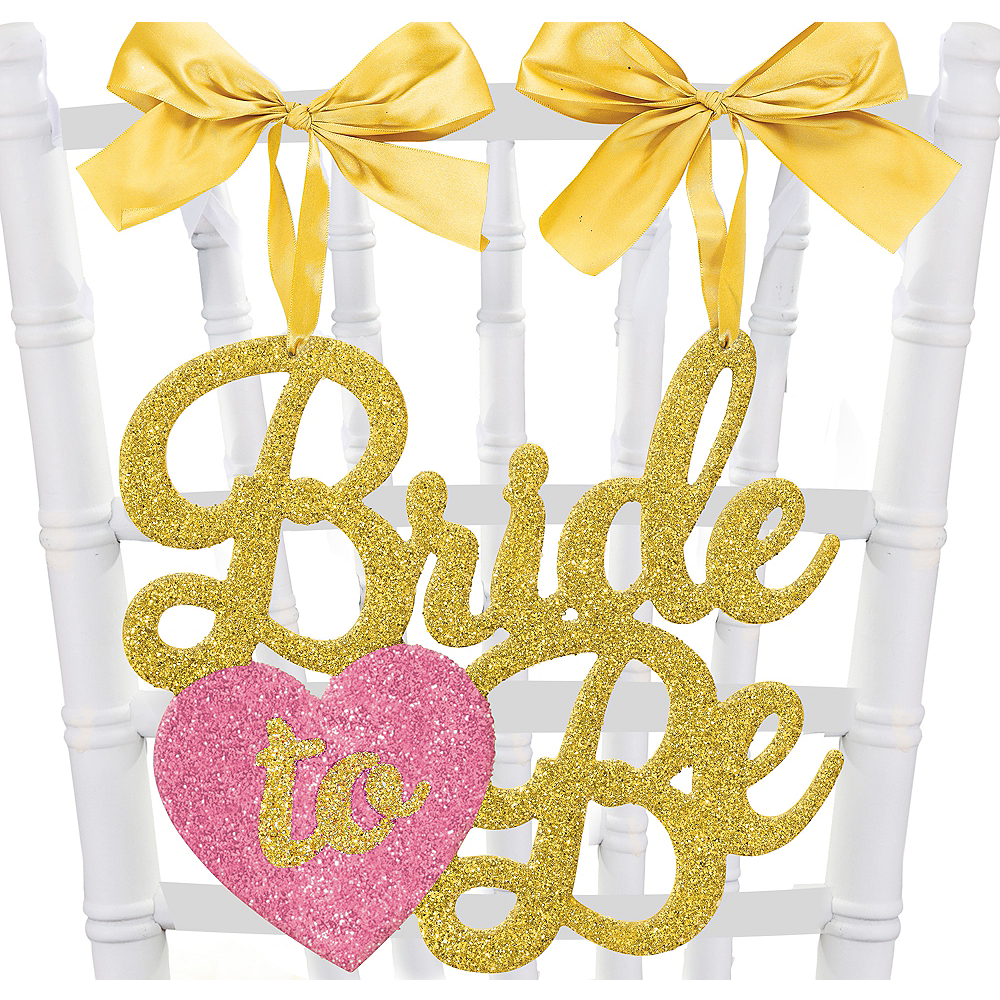 Glitter Bride-to-Be Chair Sign Image #1