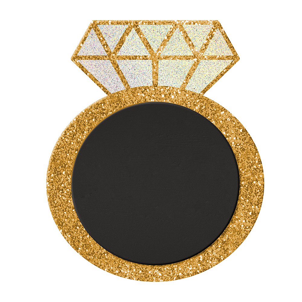 Glitter Diamond Ring Chalkboard Sign 10in X 12in Party City