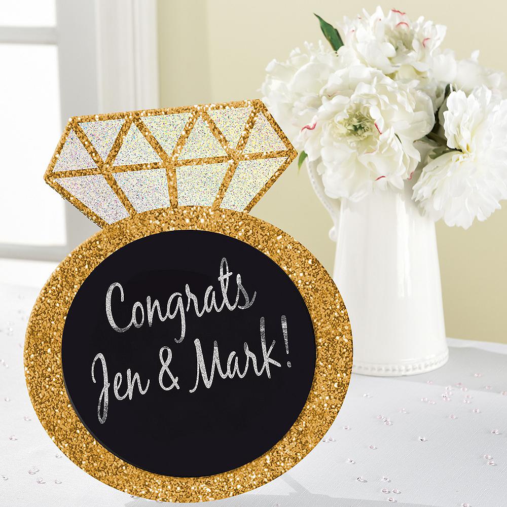 Glitter Diamond Ring Chalkboard Sign Image #4