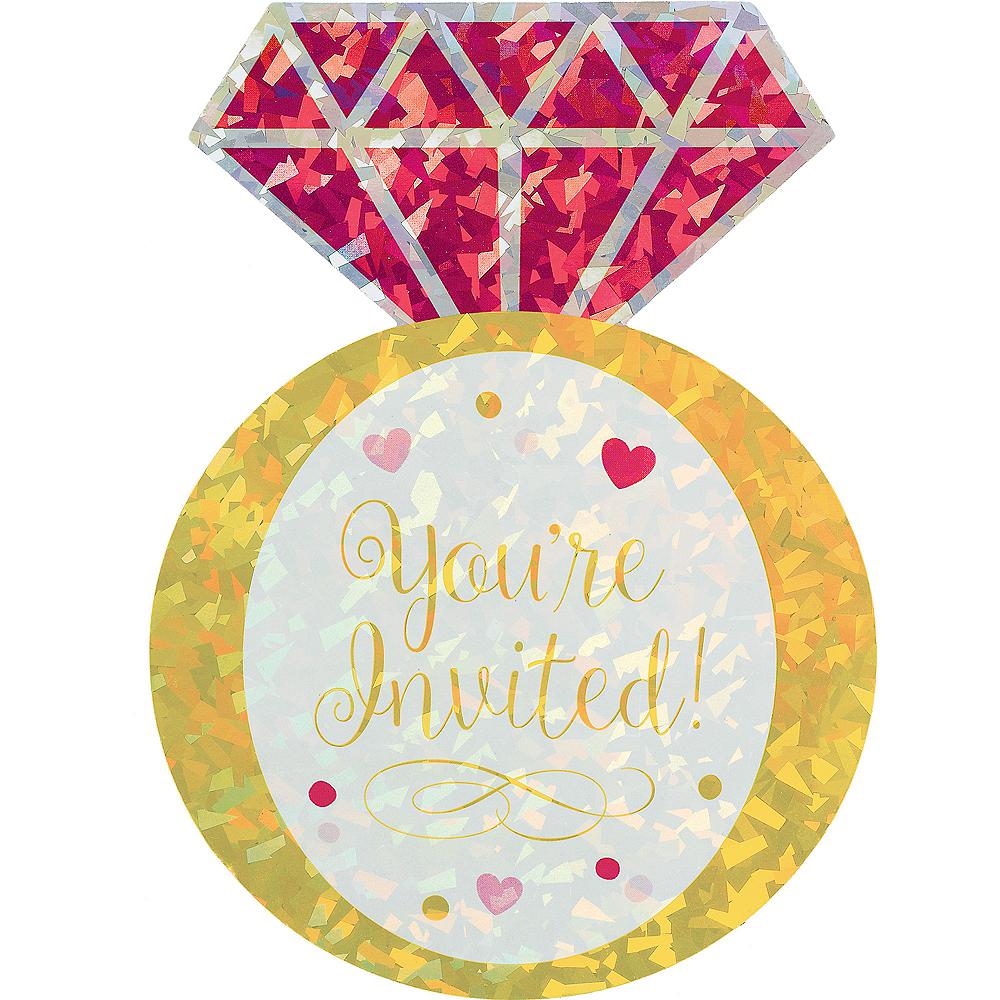 Prismatic Diamond Ring Bridal Shower Invitations 8ct Image #1