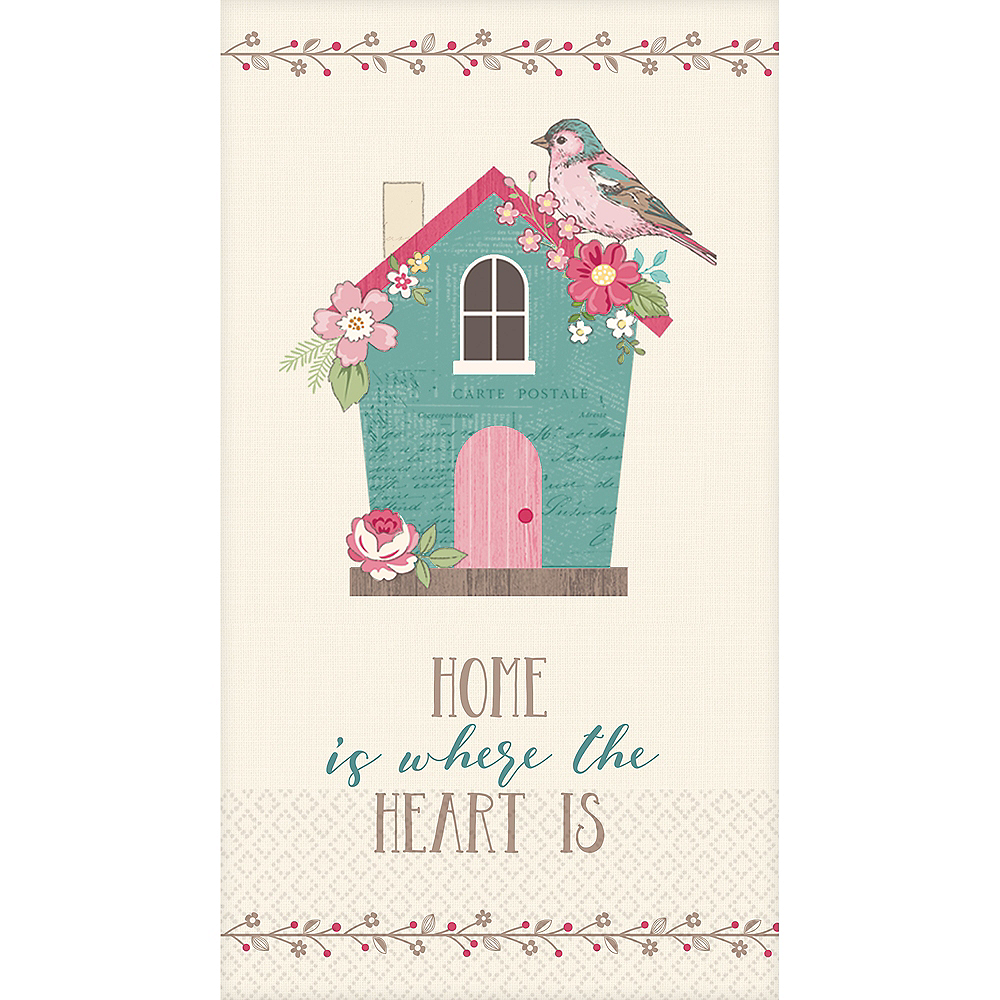 Home Is Where the Heart Is Guest Towels 16ct Image #1