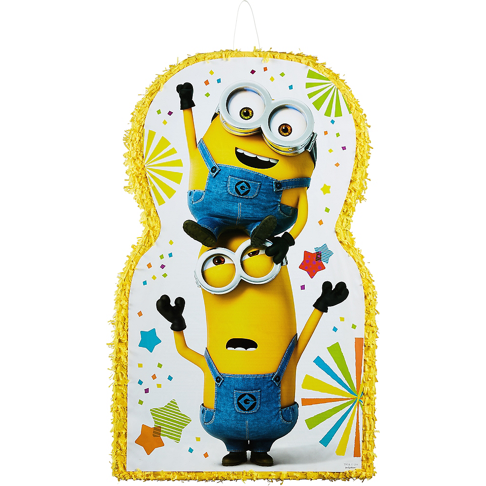 giant minion pinata 21in x 36in party city