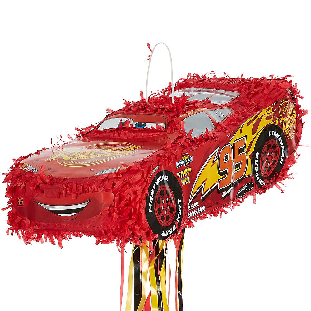 Pull String Lightning Mcqueen Car Pinata 8 1 4in X 6in Cars 3