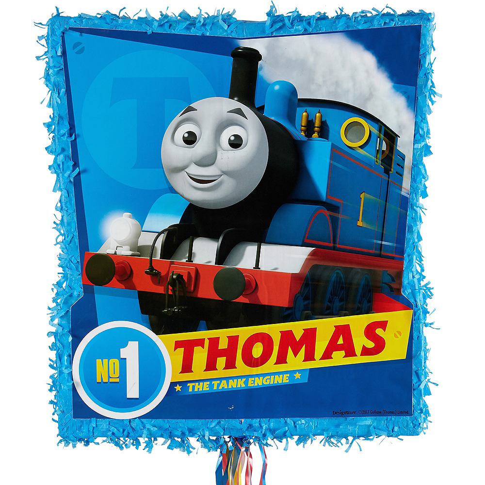 Pull String Thomas The Train Pinata 18in X 19 1 2in Party City