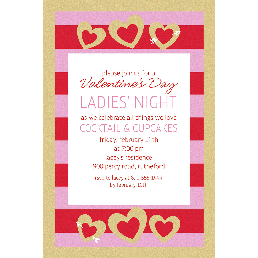 Custom Heart of Gold Invitation Image #1