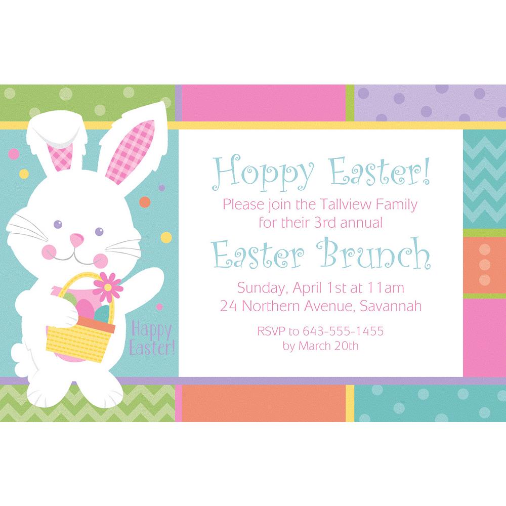 Custom Hippity Hop Easter Bunny Invitation Image 1