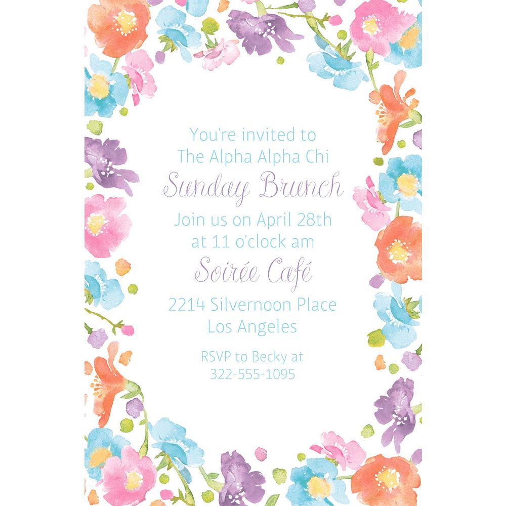 Custom Spring Has Sprung Floral Invitation Image #1