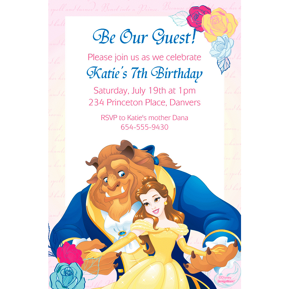 Custom Beauty And The Beast Invitation Beauty And The Beast Party