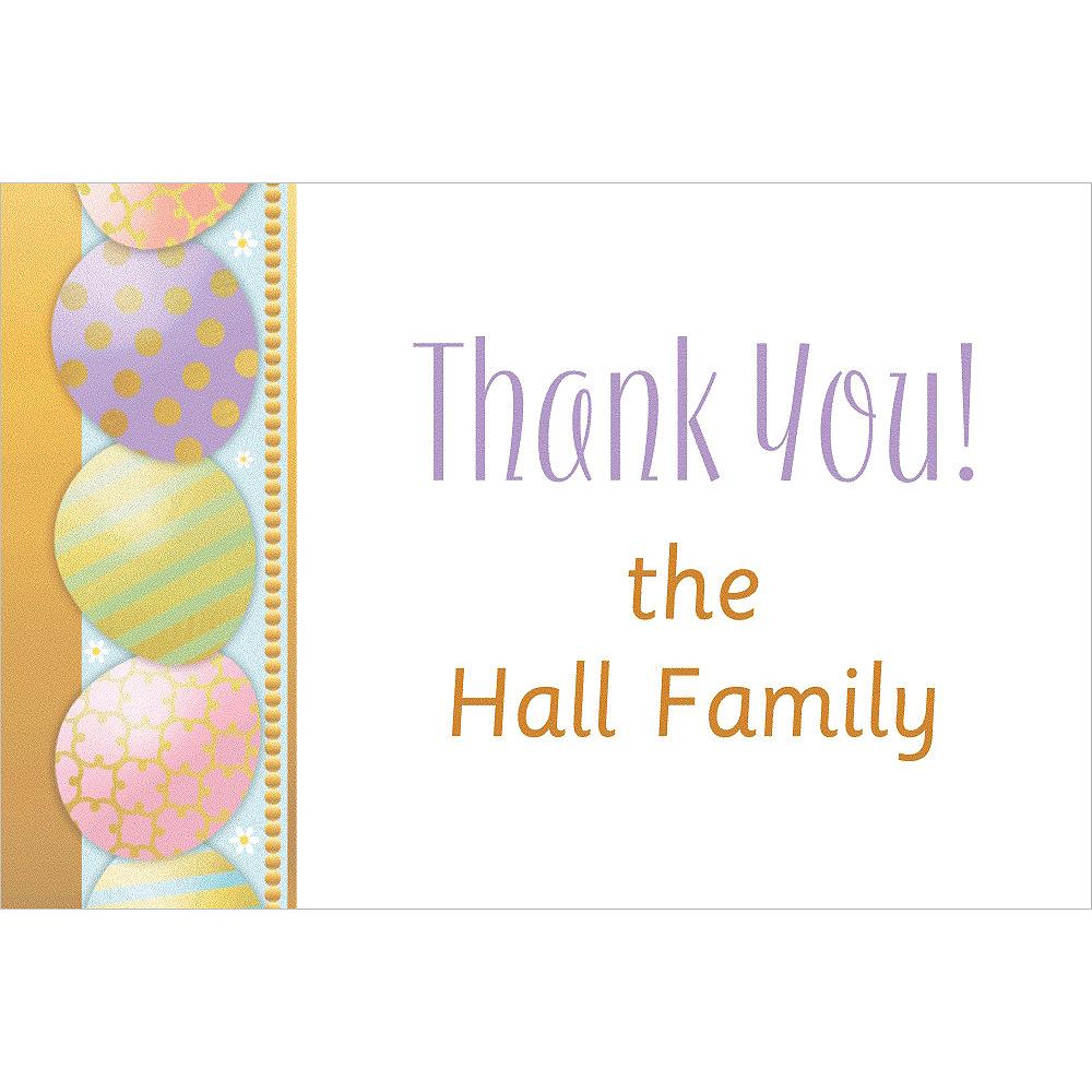 Custom Golden Easter Egg Thank You Note Image #1