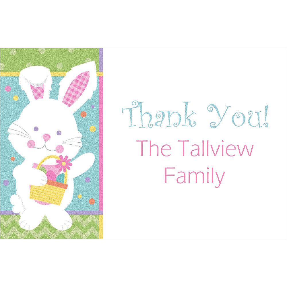 custom hippity hop easter bunny thank you note party supplies