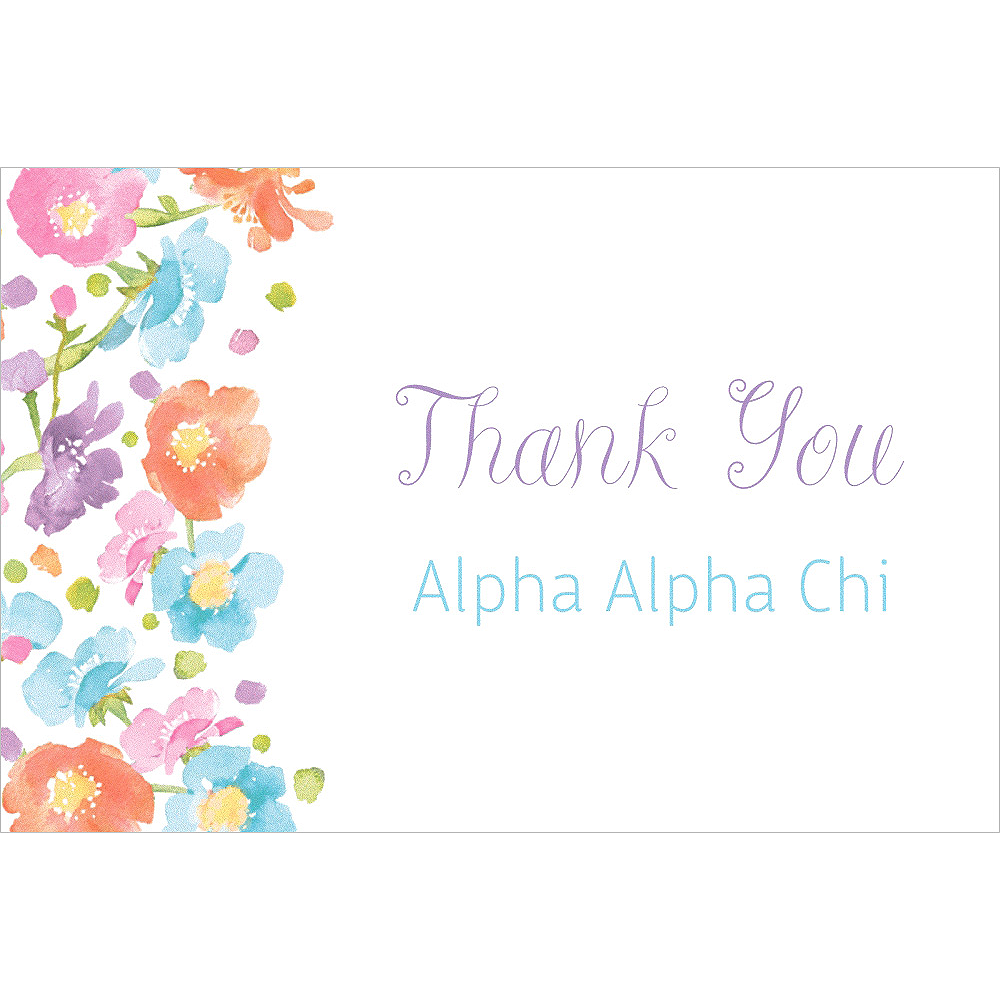 Custom Spring Has Sprung Floral Thank You Note Image #1