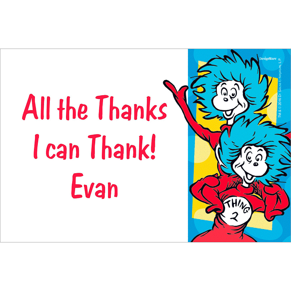 Custom Dr. Seuss Thank You Note Image #1