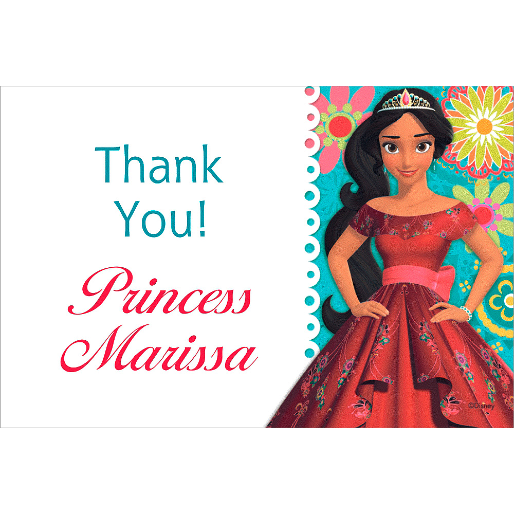 Custom Elena of Avalor Thank You Note Image #1