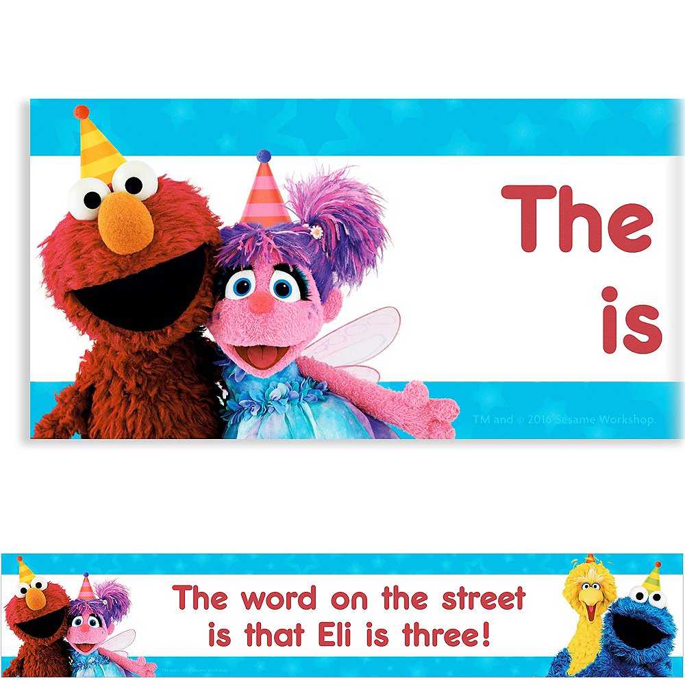 Custom Sesame Street Banner | Party Supplies | Party City