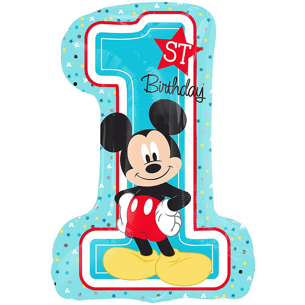 Giant 1st Birthday Mickey Mouse Balloon Image #1