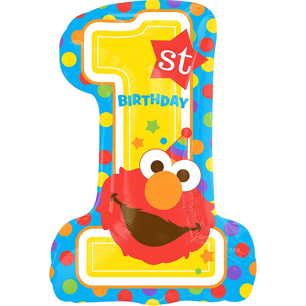 Giant 1st Birthday Elmo Balloon Image #1