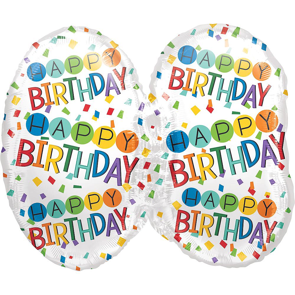 Rainbow 30th Birthday Balloon 25in x 23in Image #2