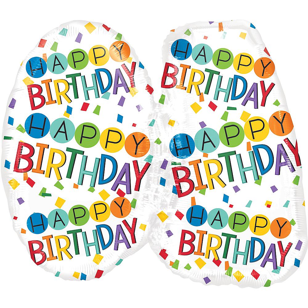 Rainbow 40th Birthday Balloon 25in x 23in Image #2