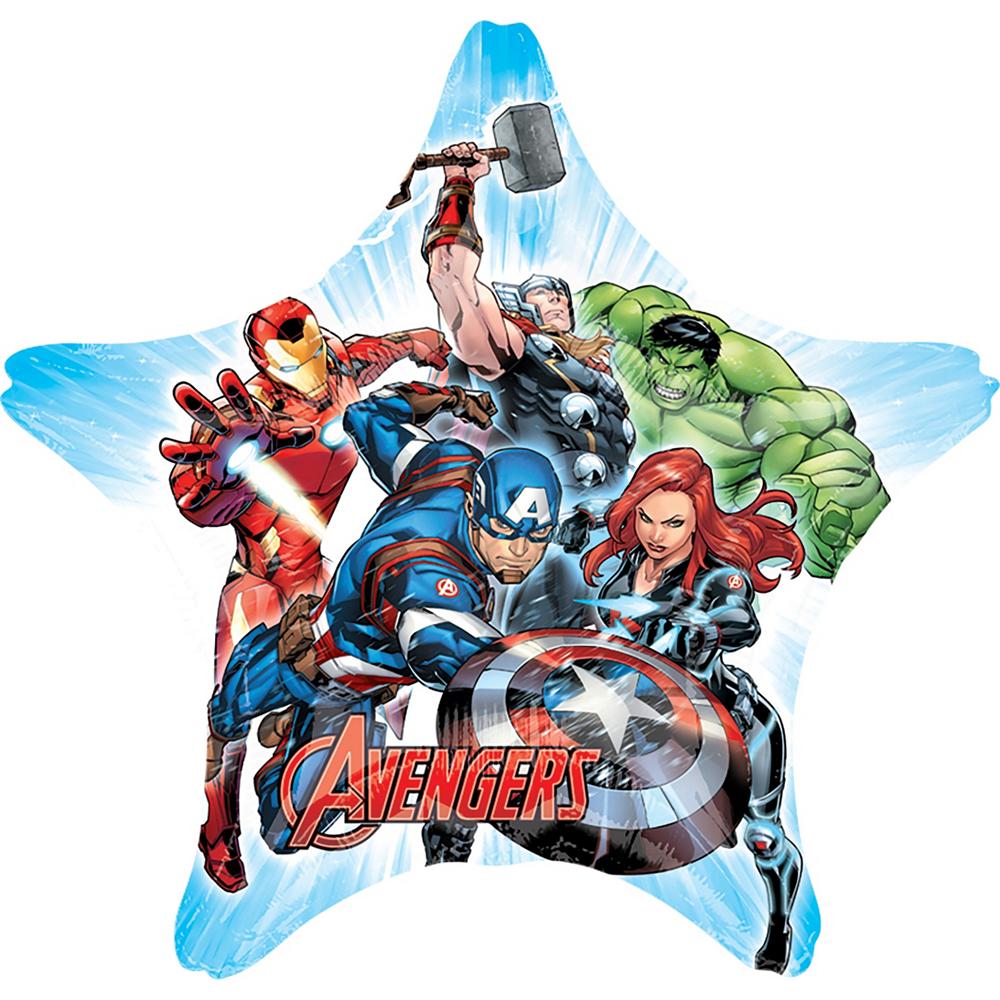 Giant Avengers Star Balloon Image #1