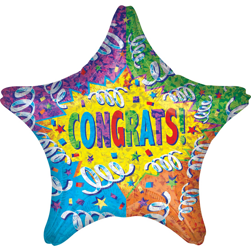 Giant Congrats Star Balloon 28in | Party City