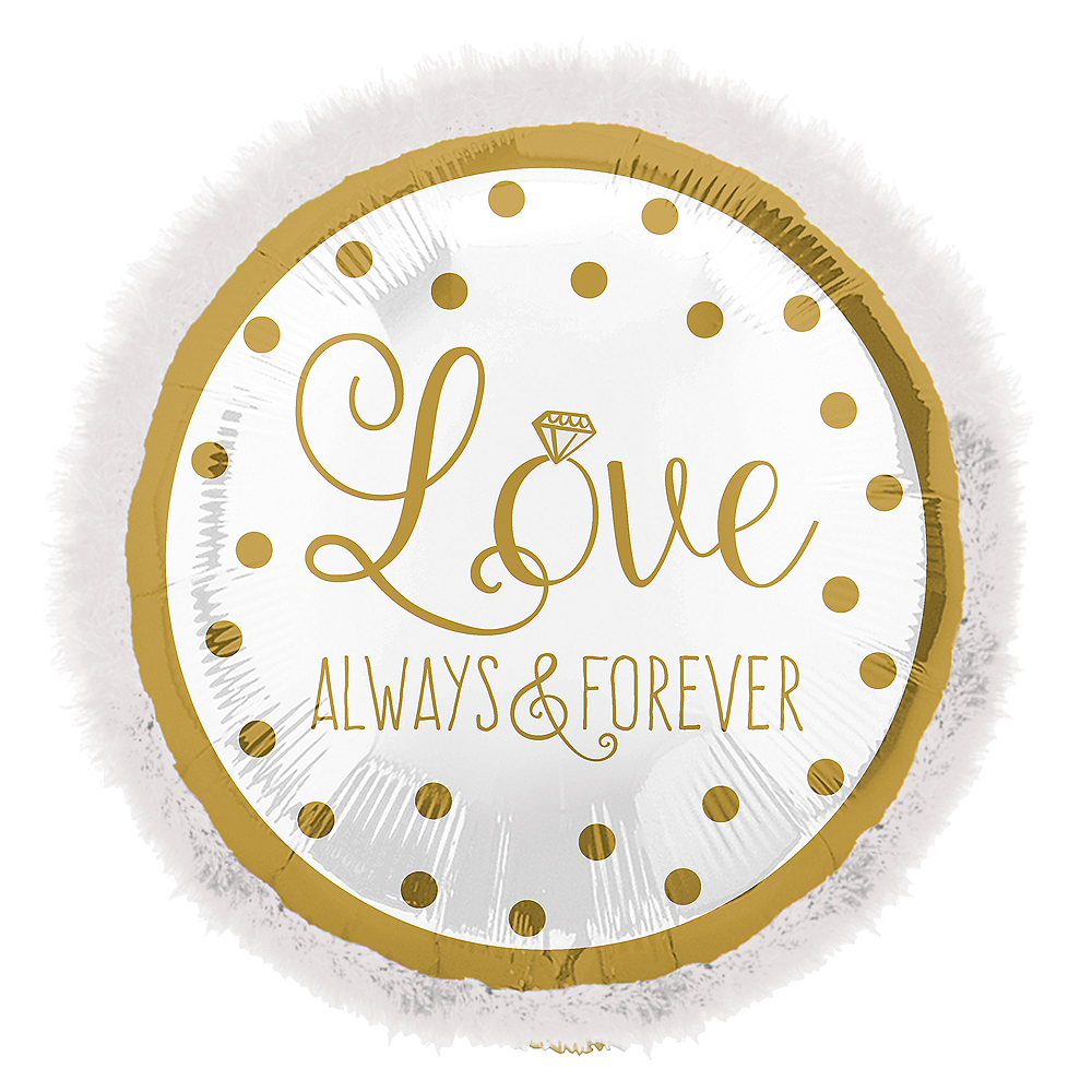 Giant Love Always & Forever Balloon, 32in Image #1