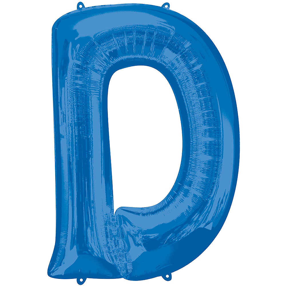 34in Blue Letter Balloon (D) Image #1