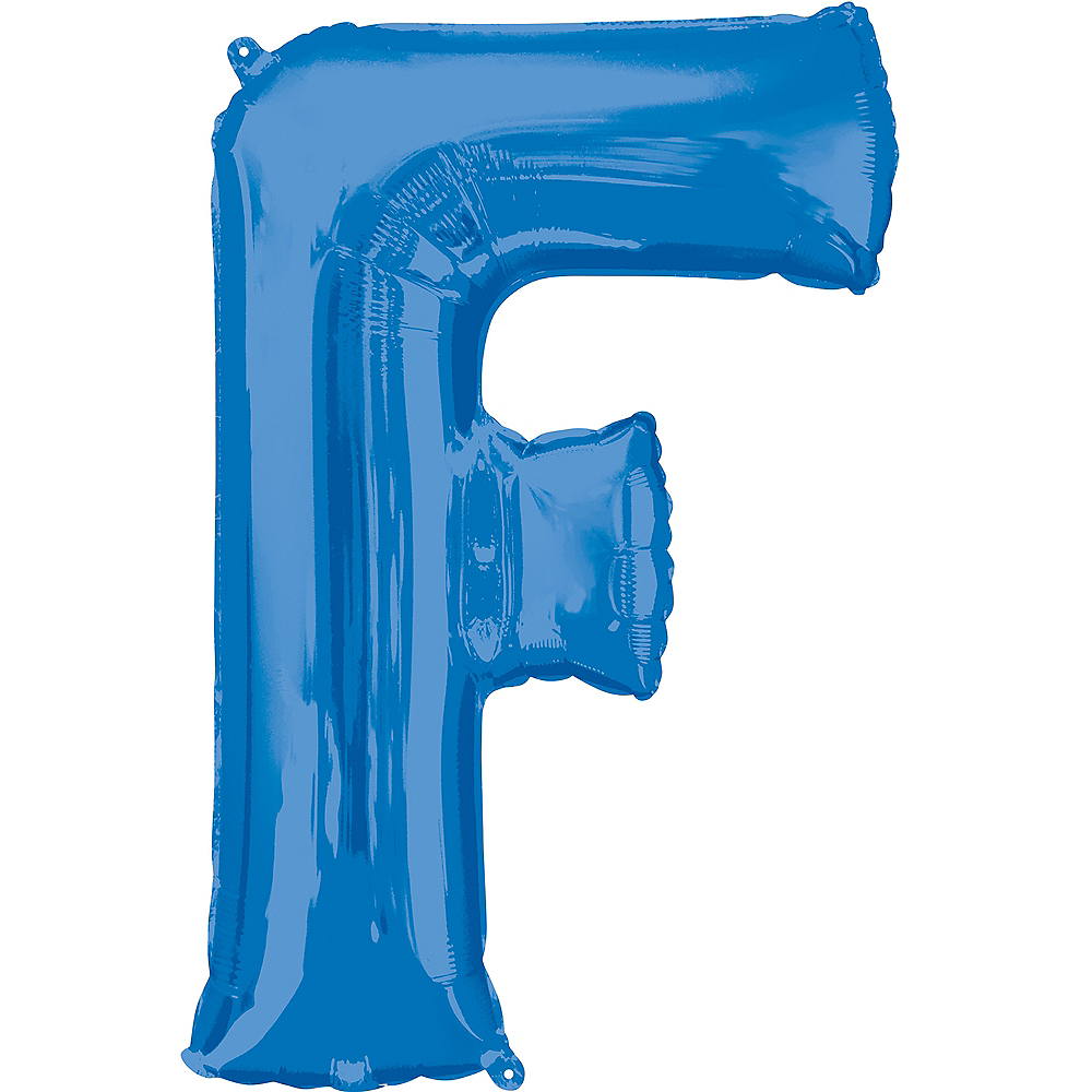 34in Blue Letter Balloon (F) Image #1