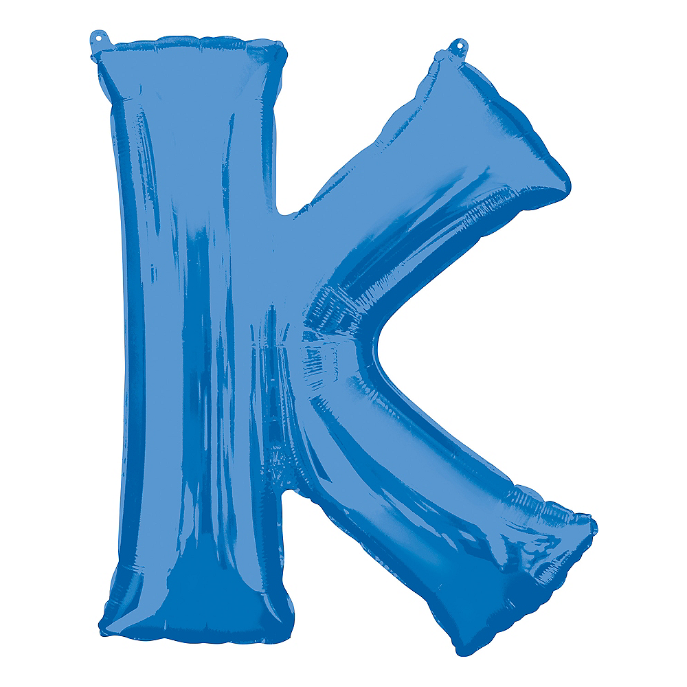 34in Blue Letter Balloon (K) Image #1