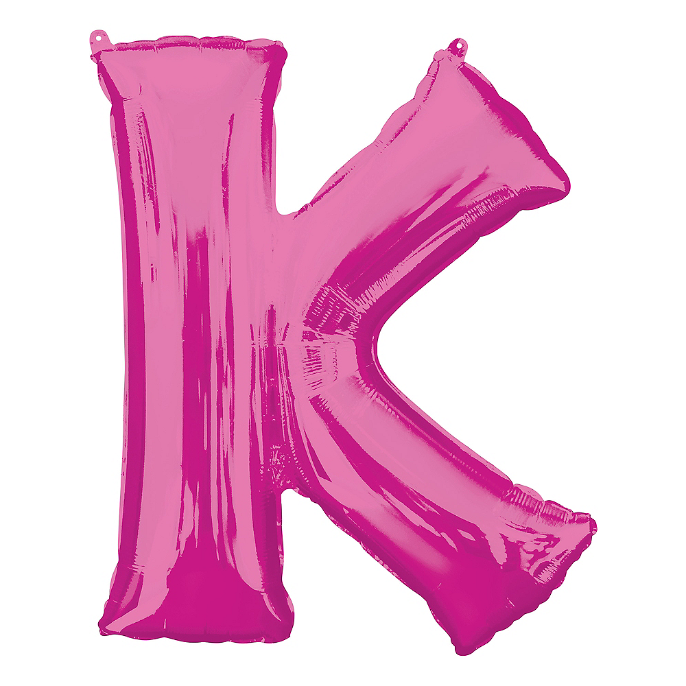 Giant Pink Letter K Balloon 26in x 33in | Party City