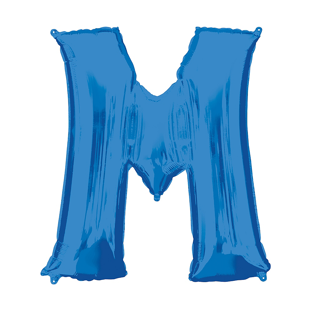 34in Blue Letter Balloon (M) Image #1