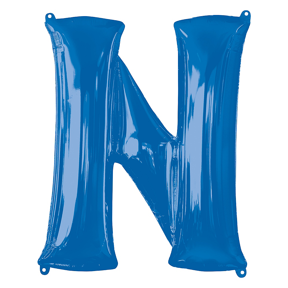 34in Blue Letter Balloon (N) Image #1