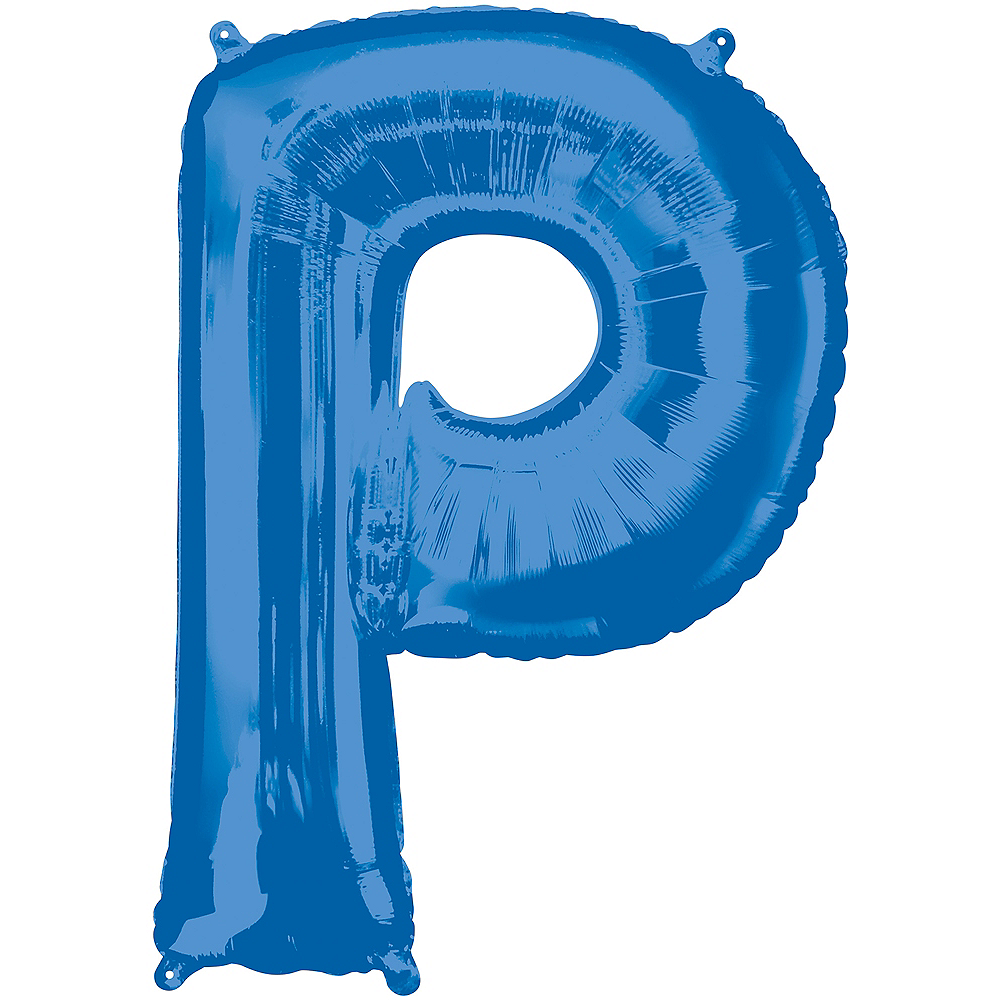 34in Blue Letter Balloon (P) Image #1